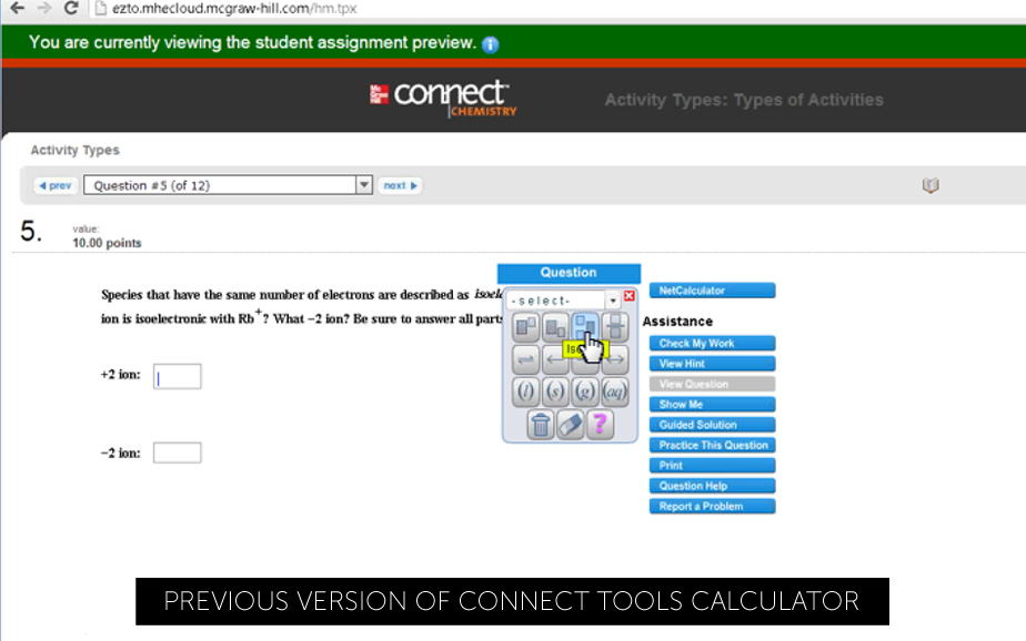 Connect Calculator Old