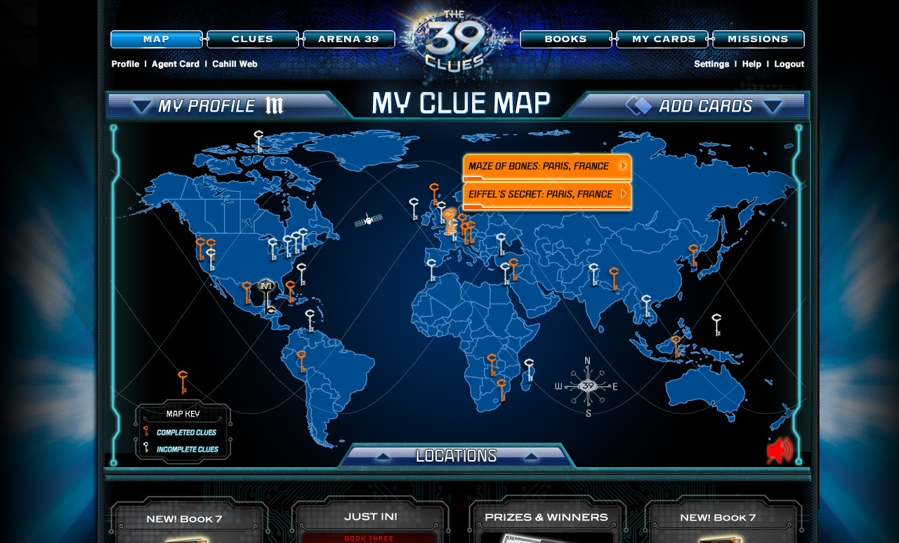 The 39 Clues Madrigal Blue Map